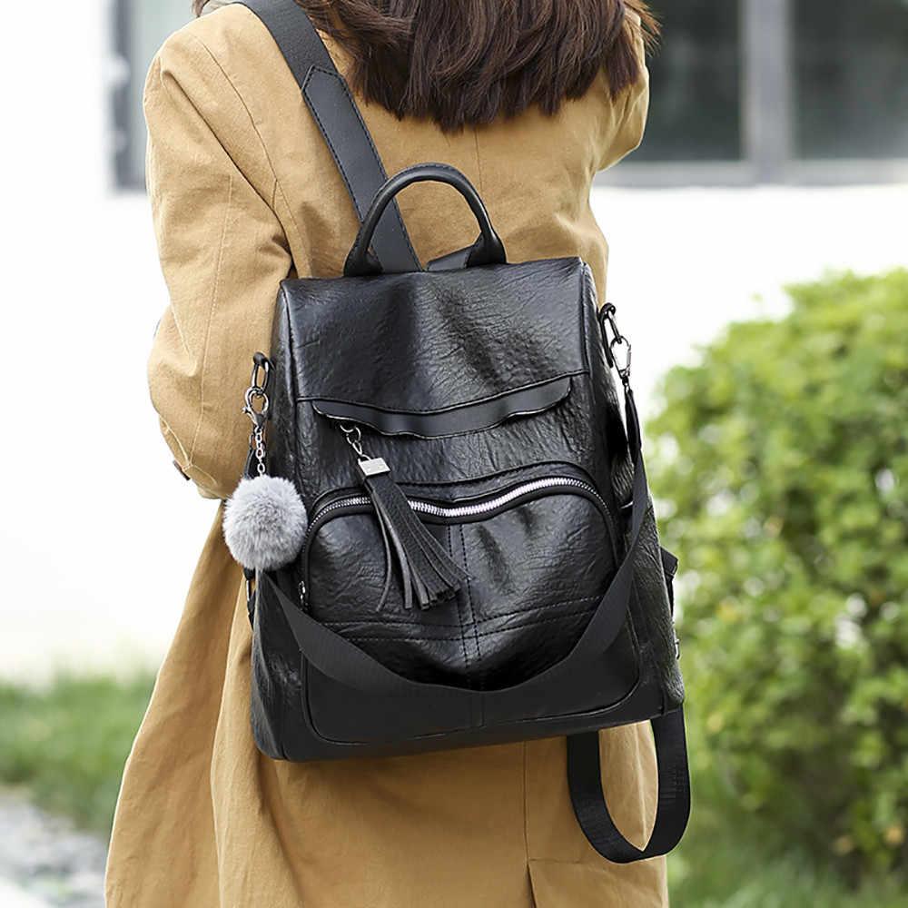 Plecak dla kobiet miękka skóra antykradzieżowa torba podróżna o dużej pojemności kobieta nastoletnia moda plecak rekreacyjny Casual Daypack