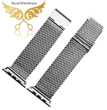 New Original Watchband Bracelets Silver Stainless Steel Wrist Band Strap For iWatch 38 mm 42mm