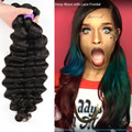HALO LADY HAIR Loose Deep Human Hair 3 Bundles Lot Brazilian Loose Deep Wave Virgin Hair Weaves Grade 7A Halo Lady Hair Products