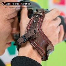 Hình Máy Ảnh Vi Sợi Da Dây Đeo Tay Máy Ảnh DSLR Dây Đai Giá Đỡ Chống Sốc Dây Cho Canon Nikon Sony Pentax Leica