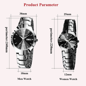 Image 2 - KEEP IN TOUCH Brand Luxury Lover Watches Quartz Calendar Dress Women Men Watch Couples Wristwatch Relojes Hombre 2020 With Box