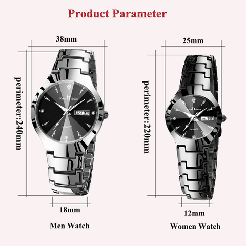 KEEP IN TOUCH Brand Luxury Lover Watches Quartz Calendar Dress Women Men Watch Couples Wristwatch Relojes Hombre 2019 With Box Lahore
