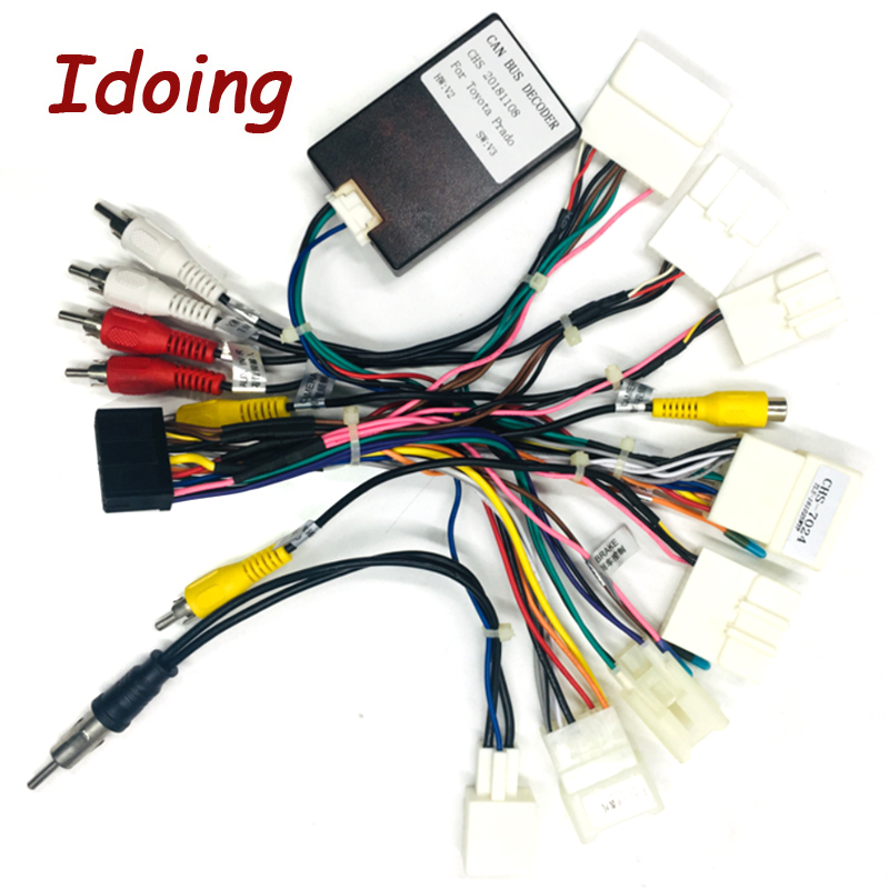 Idoing  Automotive Car Stereo Audio CD/DVD Harness  Adapter Extended line For title=