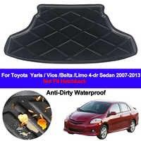 ด้านหลัง Cargo Liner ชั้นพรมถาดพรมสำหรับ Toyota Yaris Vios Belta Limo 2007-2012 2013 4 ประตูซีดาน
