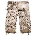 2016 Hombres Del Verano Casual Bolsillos de Impresión Cortos Pantalones Cortos General de Entrenamiento Pantalones Cortos Bermuda masculina Más Tamaño