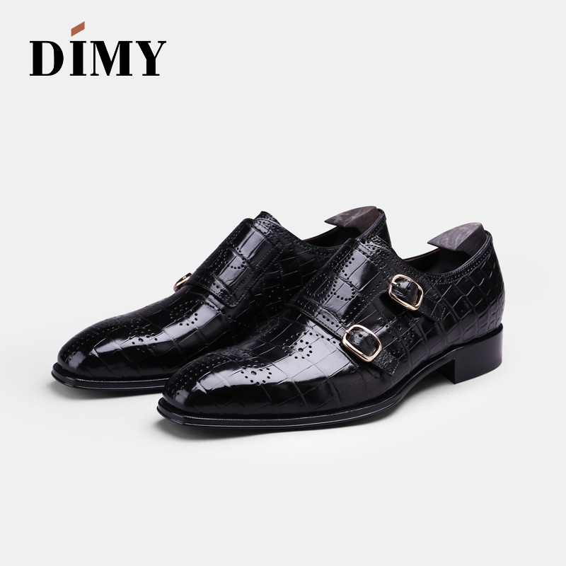 DIMY Custom Hand-wiping Men's Business Dress Shoes Summer Breathable Korean Version Of The Trend Of British Wind Mengke Shoes