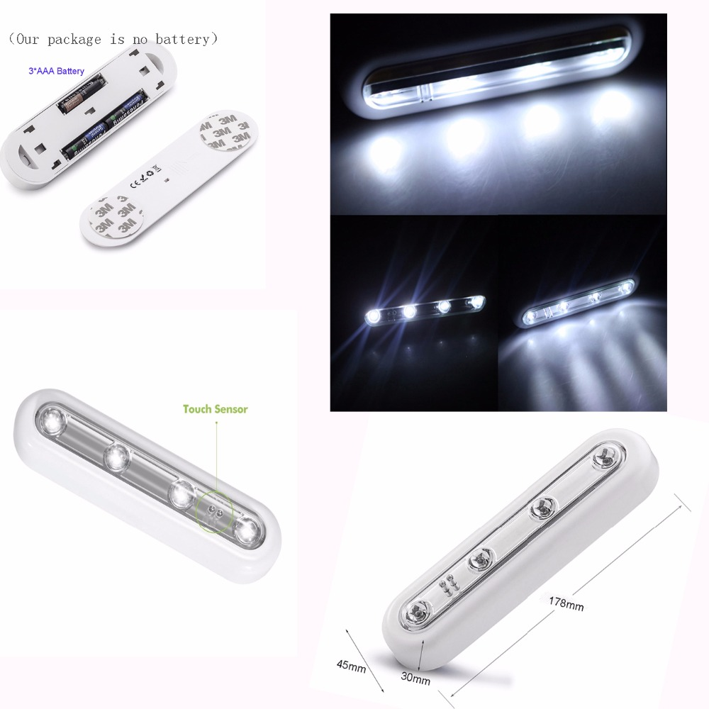 4 LEDS PIR Auto Motion Sensor Light Night Light Intelligent Portable Infrared Induction for bedroom Hallway Closet A