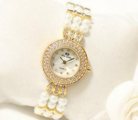 FA1240Women Watches Luxury Crystal Bracelet Gemstone Wristwatch Dress Watches Women Ladies Gold Watch Fashion Female Brand