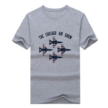Newest 2017 Chicago t-shirt Bears Air Show T shrit 100% cotton