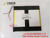 3 7V 8000mAH 42110110 Polymer Lithium Ion Li Ion Battery For Tablet Pc Power Bank MP4