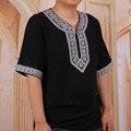 Dashiki Africano Tradicional de Impresión de la vendimia Floja T shirt Camiseta de Los Hombres