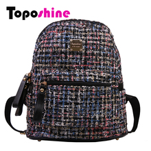 Toposhine Wool Colors Gray Women Backpack Winter New Arrival Soft Bag Lady Backpack Fashion Female Casual Backpacks 7109