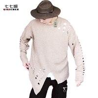 새로운 겨울 스웨터 남성 두꺼운 패션 느슨한 니트 스웨터 남성 스트리트 2017 새로운 높은 품질의 힙합 스웨터 남성