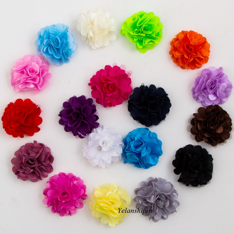 50pcs Ballerina Lace Artificial Fabric Flowers For Headbands Hair Accessories