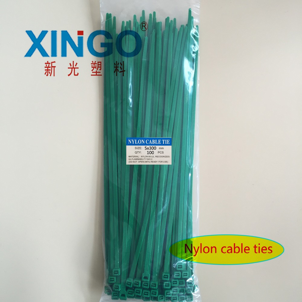 Nylon Cable Ties 100Pcs/pack 5*300mm High Quality width 3.6mm GREEN Color  Self-locking Plastic,Wire Zip TieNylon Cable Ties 100Pcs/pack 5*300mm High Quality width 3.6mm GREEN Color  Self-locking Plastic,Wire Zip Tie