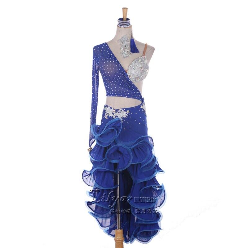b449115f9 Adult/Child New Latin Dance Dress Women Competition Flamenco Dress Roupa De  Ginastica Samba Costume