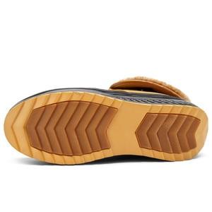 Image 3 - חג המולד חורף נעלי אישה חם קטיפה פרוותי מגפי שלג מגפיים חיצוני קרסול טריזי פרווה מגפי נעליים יומיומיות Zapatos De Mujer