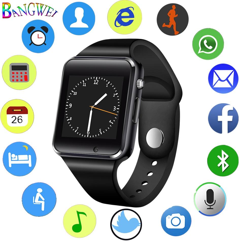 2018 Men Women Smart Watch Sedentary Sleep Reminder Bluetooth Music Player LED Color Touch Screen Reloj inteligente smartwatch умные часы smart watch y1