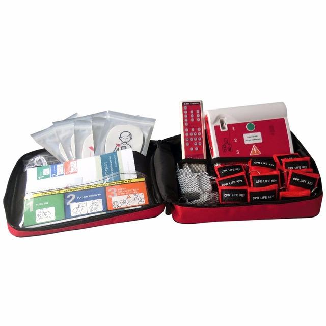 5 Unids/pack AED Desfibrilador Externo Automático Portátil de Primeros Auxilios Equipo AHA2015 CE Aprobó el Uso Público En Inglés y Español