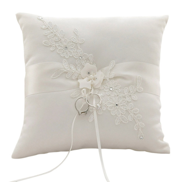 Wedding Ring Pillow Lace Flowers Wedding Ring Holder Marriage Ring