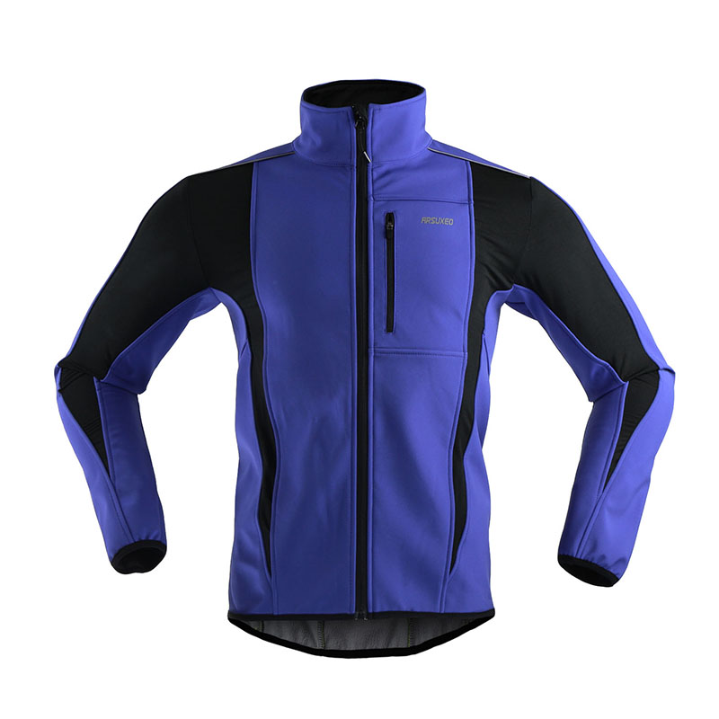 цена ARSUXEO Thermal Cycling Ride Sports Jacket Winter Warm Up Bicycle Clothing Windproof Waterproof Soft shell Coat MTB Bike Jersey онлайн в 2017 году