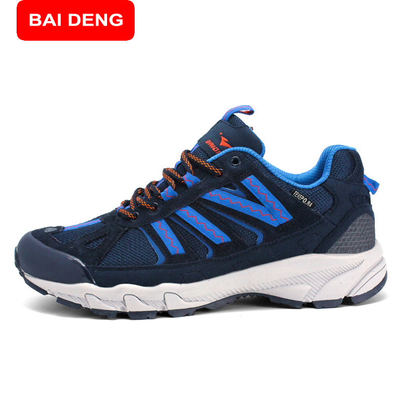 ФОТО BAIDENG Men Women Trekking Climing Breathable Shoes Outdoor Hiking Athletic Surface Waterproof Shoes 8096