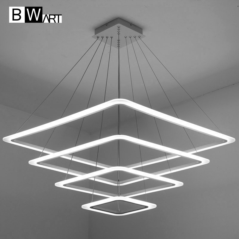 BWART Modern Led Chandelier Lighting Frames Lustre With Remote Control Dimmable For Dinning Room living room Lobby Avize