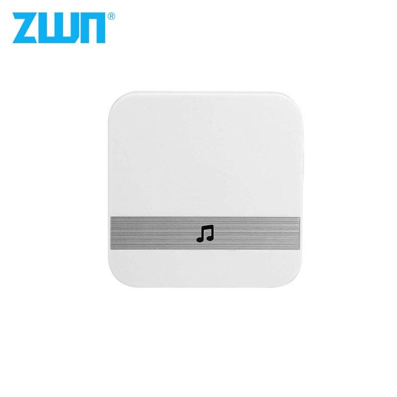 Zwn v5 b10 ac 90 v-250 v 52 sinos 110db campainha sem fio receptor ding dong wifi campainha câmera baixo consumo de energia porta de casa