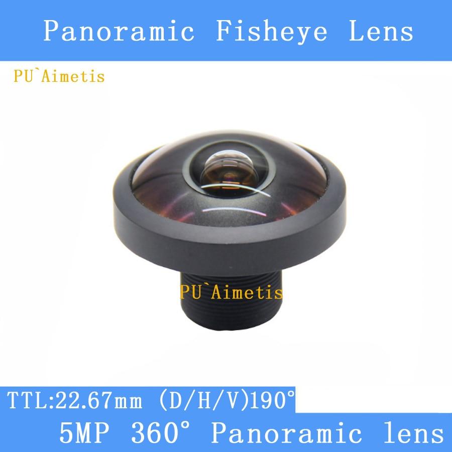 PU`Aimetis 5MP 360degree panoramic fisheye 1.8MM lens ultra wide angle full glass 7G HD M12 CCTV lens Camera Security Camera fisheye 5 0mp m12 1 56mm cctv lens m12 ir 1 2 5 5 0megapixel for hd ip camera 185d wide angle panoramic lens