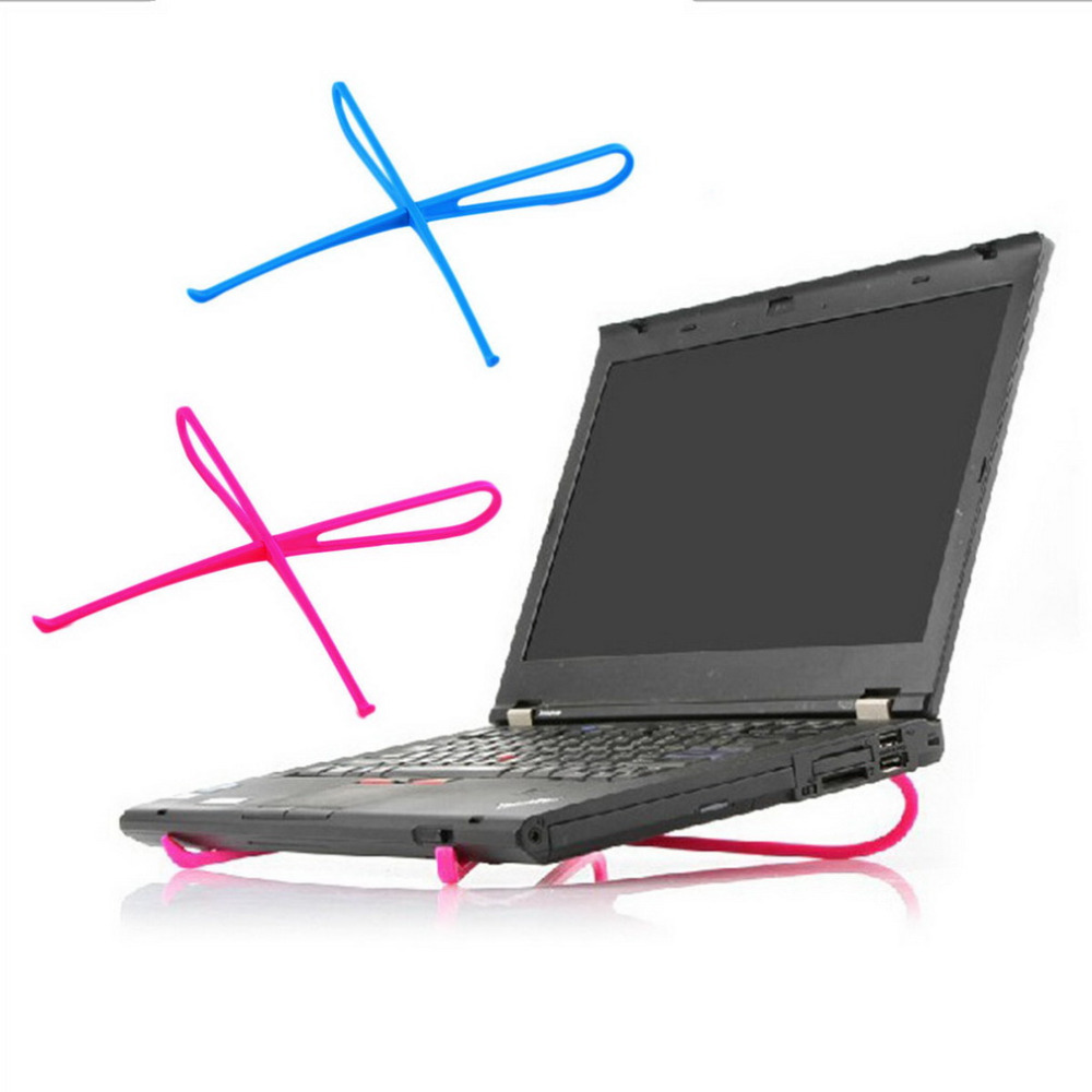 Portable Plastic Simple Laptop Notebook Cooling Cooler Stand Rack Holder Universal Tool Desktop Computer Stand Bracket