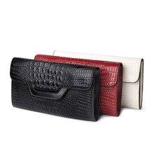 Frauen handtasche umhängetasche aus echtem leder erste schicht rindleder Crocodile mode handtaschen schulter Tag Kupplungen bag