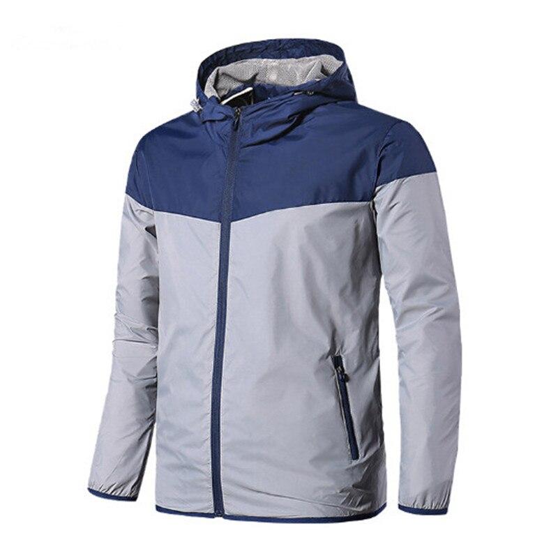 Plus Size Jackets Men 2017 Autumn New Jacket Men's Hooded Men Jacket Fashion Thin Windbreaker Men Outwear Coat