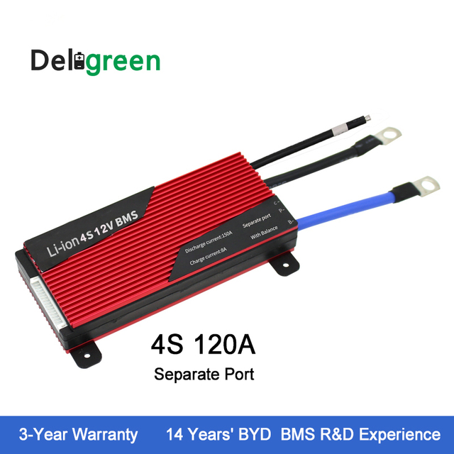 12V 4S Protective Circuit Board 120A 150A 200A BMS for 18650 pack rated 3.2V lifepo4 Battery Pack