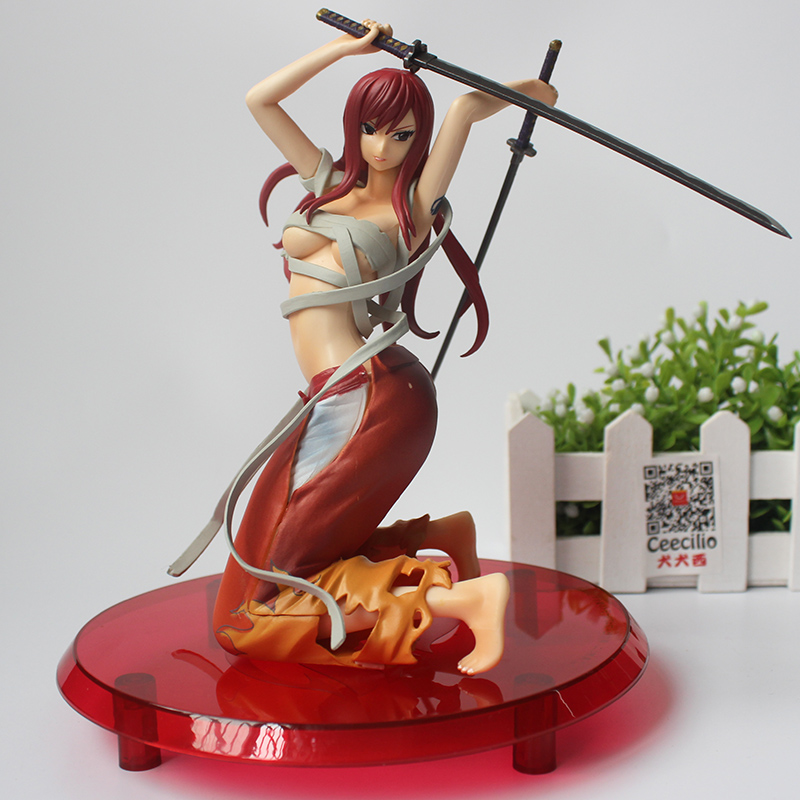 купить Anime Fairy Tail Erza Scarlet Toy Figure PVC Figures Scarlet Version Animation Collection Model Toys по цене 1916.85 рублей