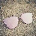 HBK Nova Marca de Luxo Designer De CD Flat Top óculos de Sol Espelho Mulheres rosa Marca Tão Real Do Vintage Óculos De Sol Dos Homens gafas de sol mujer