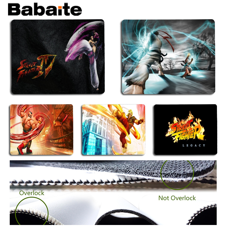 Babaite Street Fighter Customized MousePads Computer Laptop Anime Mouse Mat Size for 25x29cm Gaming Mousepads