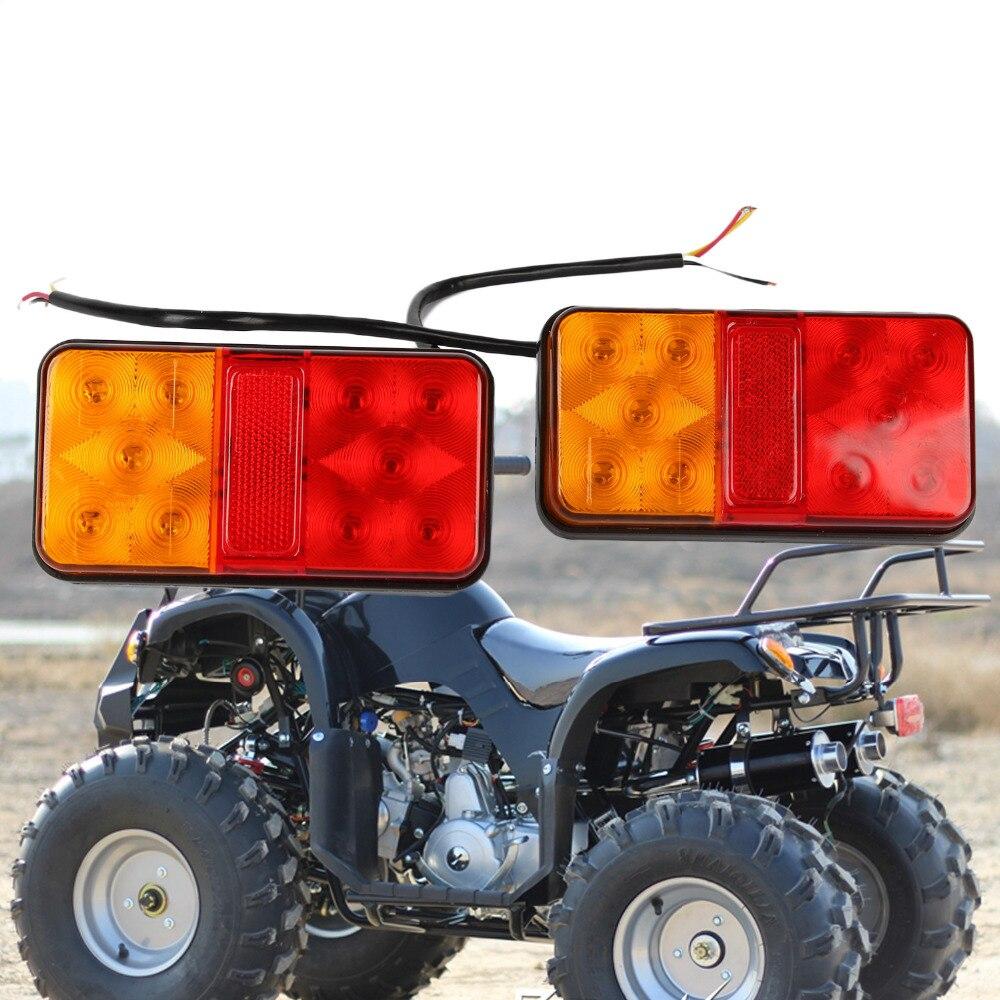 Pair 12V Rear Stop LED Lights Tail Indicator Lamp Trailer Truck Tipper Van