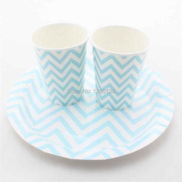 Free Shipping Chevron Striped Polka Dot Disposable Party Paper Plates Wedding Favor Decor Drinking