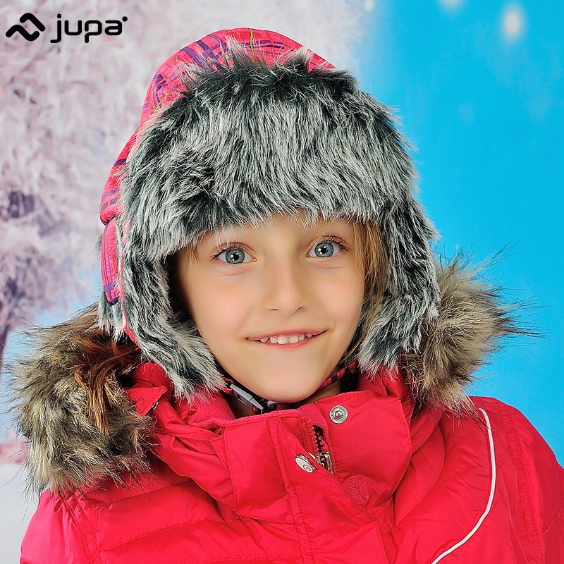 JUPA Kids Pilot Hat Cute Earflap Hat Caps With Lining Baby Warm Hats For Children Winter Hats pink solid warm ski girls hat goexplore neck scarf warm winter hat women caps men ski hat skullies beanies knitted hats snow outdoor sport fleece cap for male