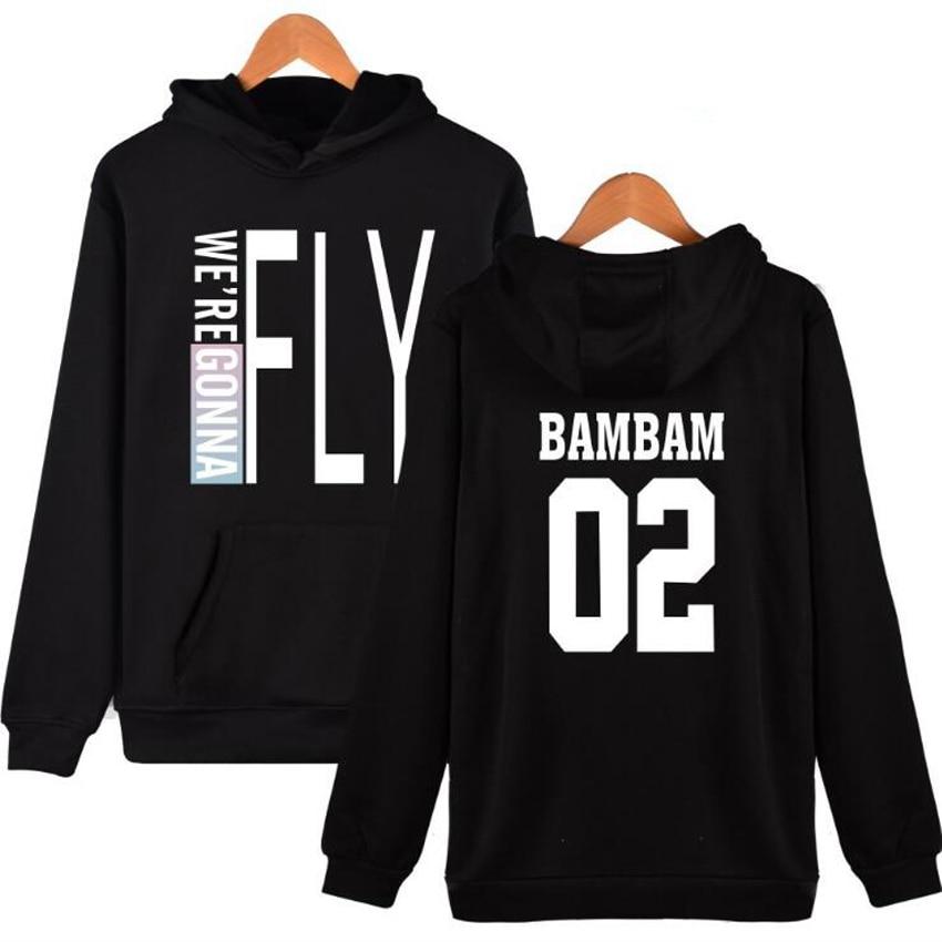 Moletom Kpop GOT7 jackson Mark JB JR Bambam yugyeom Long Sleeve Harajuku Sweatershirt Hoodie Outerwears Casual Pullover svitshot