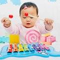 Animal de la historieta Del Cabrito Del Niño Del Bebé 8-Note Xilófono De Madera Juguetes Musicales Xilófono Sabiduría Juguetes del Instrumento de Música