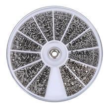 1000 шт винты гайки ремонтные наборы 12 видов из нержавеющей стали крошечные шестигранные Ассортимент Комплект+ отвертка для очков Солнцезащитные очки часы