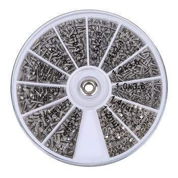 1000 sztuk śruby nakrętki zestawy naprawcze 12 rodzajów ze stali nierdzewnej Tiny Hex zestaw asortymentowy + śrubokręt do okularów okulary zegarek tanie i dobre opinie Zestawy nakrętki i śruby Obróbka metali Glasses Screws