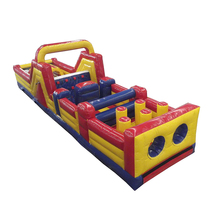 Giant inflatable obstacle course sport game commercial slide bouncer jumper playground