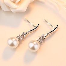 Freshwater Pearls Silver Stud Earrings Jewelry For Women