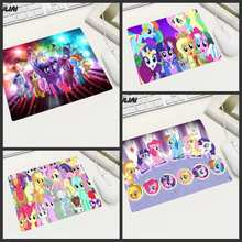XGZ Cute Cartoon My Little Pony Rubber Small Size Mouse Pad Family Desktop PC Laptop Office