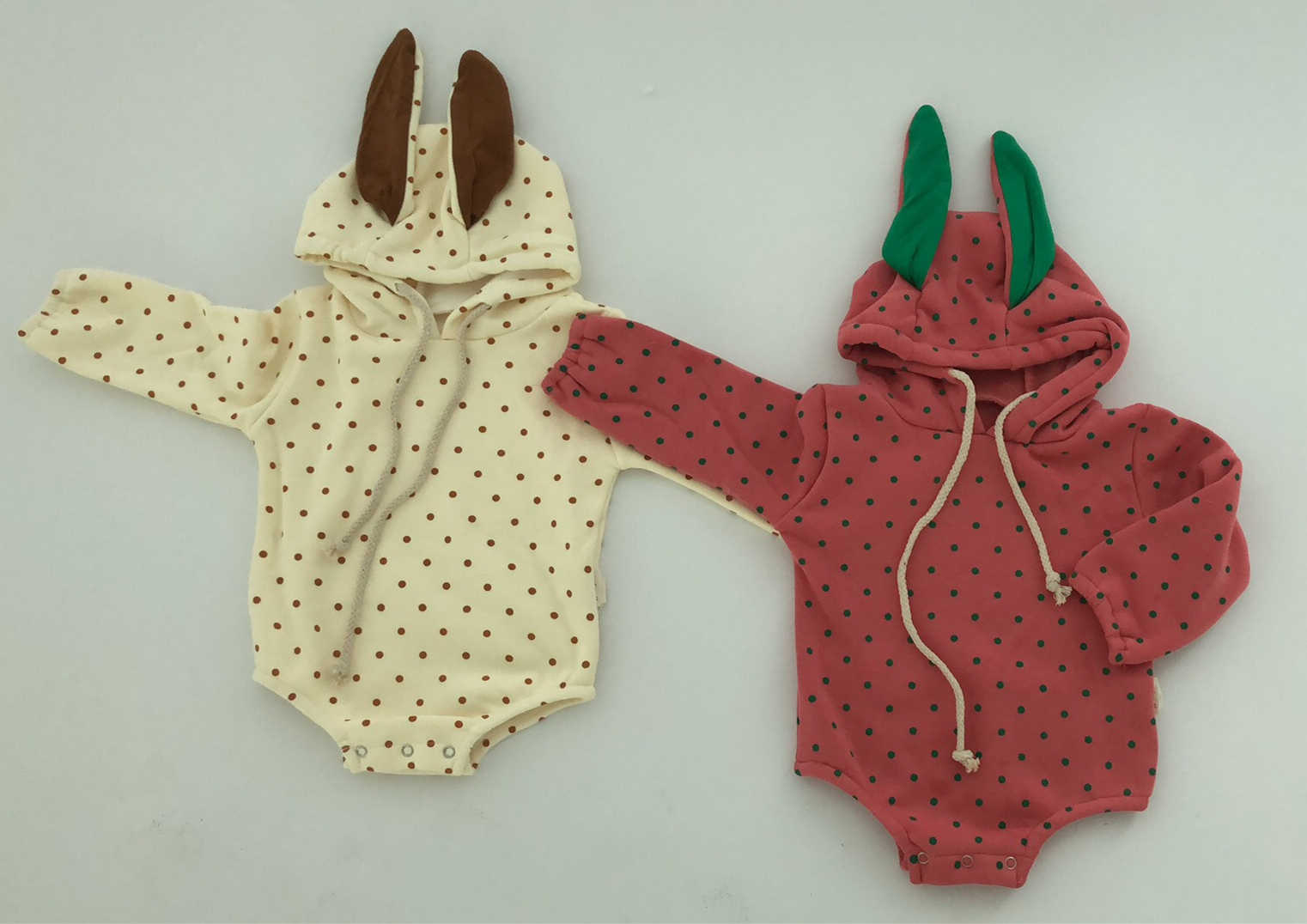beead3877118 ... New Baby Bodysuit Cute Rabbit Ears Climbing Clothes And Velvet Sweater  Baby Cotton Bag And Fart