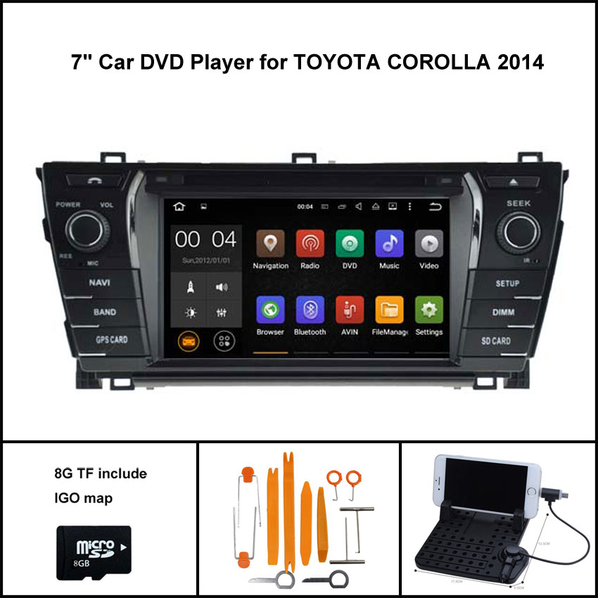 Quad Core Android 7 1 CAR DVD GPS for TOYOTA COROLLA 2014 car stereo car gps