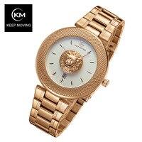 Relogio Masculino Top Fashion Brand Luxury KEEP MOVING Watches Men Gold Quartz Watch Business Waterproof Male