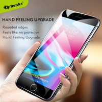 Benks Curved Glass SFor IPhone 7 8 Plus Glass Tempered Glass Screen Protector Full Cover Anti